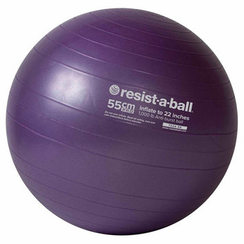 Mad Dogg Athletics Inc Resist-A-Ball Stability Ball Pro Series 55cm -Purple