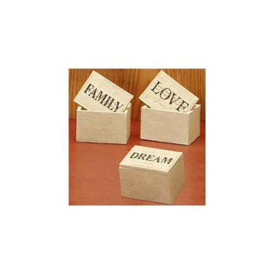 Unison Gifts UD-0330Z Rectangular Box - Family Love Dream - 4 x 3 in. Set of 3