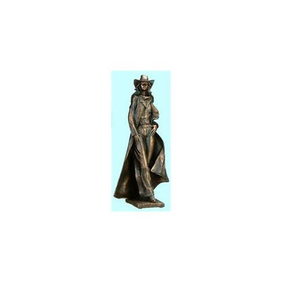 Unison Gifts CAC-716 14.5 H In. Cowgirl Posing With Hands On Hip Bronze Statue