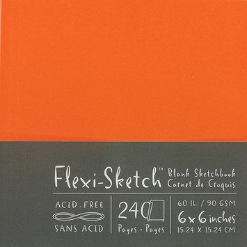 Global Art Flexi-Sketch Blank Sketch Book, 6