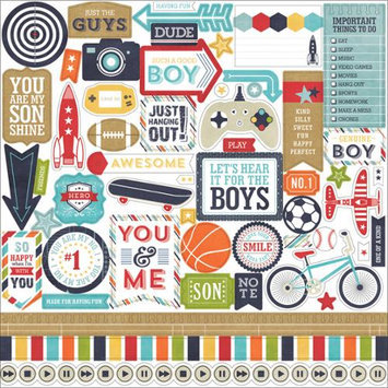 Echo Park Paper That's My Boy Cardstock Stickers 12