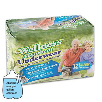 Unique Wellness XLarge Wellness Super-Absorbent 12 Pack Adult Underwear