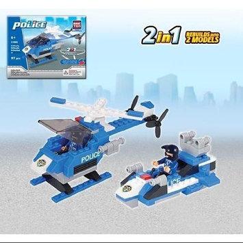 Police Hawk 2 In 1 - Building Set by Brictek (11005) BICY1005 BRICTEK