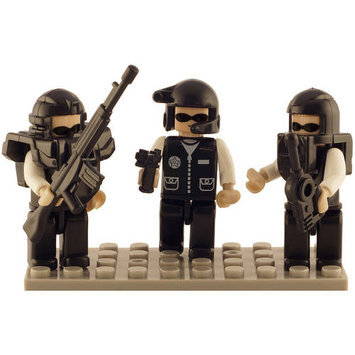 BRICTEK BUILDING BLOCKS 19307 Mini Figurines Police Swat Team (3) BICY9307