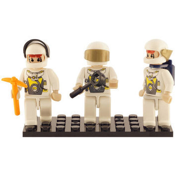 BRICTEK BUILDING BLOCKS 19309 Mini Figurines Space Team (3) BICY9309
