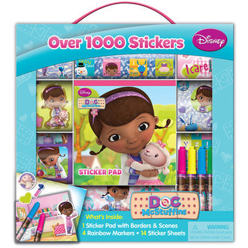 Artistic Studios Doc McStuffins Sticker Box with Handle