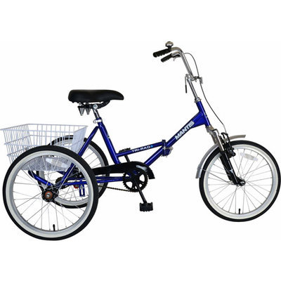 Cycle Force Group Mantis 16 inch Tri-Rad Folding Adult Trike - Blue