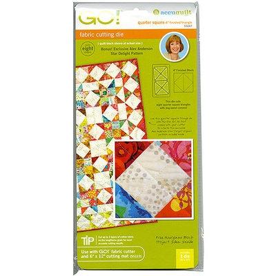 Accuquilt GO! Fabric Quarter Square Triangle 4-inch Cutting Die