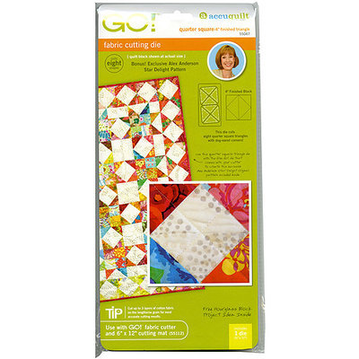 Accuquilt GO! Fabric Quarter Square Triangle 4-inch Cutting Die