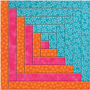 Accuquilt Go GO! This & That Fabric Cutting Dies-GO! Log Cabin By Leslie Main