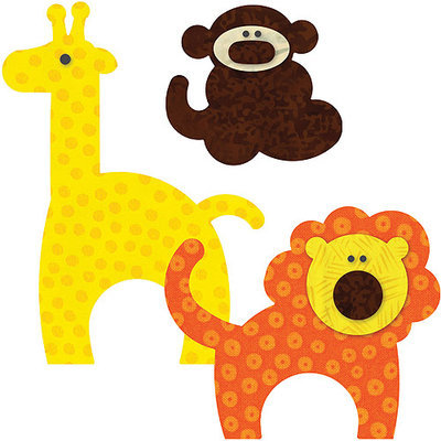 Accuquilt Go GO! This & That Fabric Cutting Dies-GO! Zoo Animals