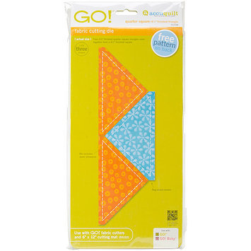 Accu-cut Systems GO! Fabric Cutting Dies-Quarter Square -4-1/2