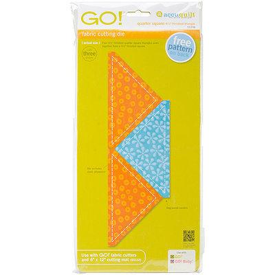 Accu-cut Systems GO! Fabric Cutting Dies-Quarter Square -4-1/2