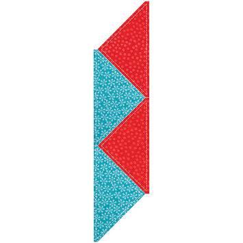 Accu-cut Systems GO! Fabric Cutting Dies-Quarter Square -8 inch Finished Triangle