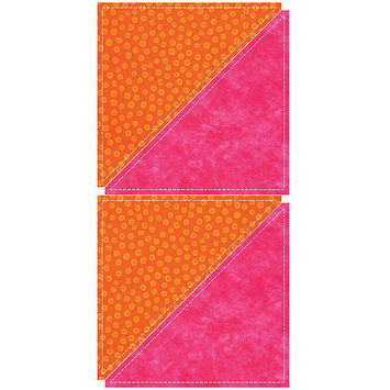 Accu-cut Systems GO! Fabric Cutting Dies-Half Square -8 inch Finished Triangle