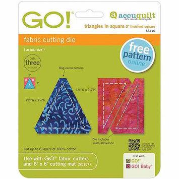 Accuquilt Go Go! Fabric Cutting Die - Triangles In Square -2 X2
