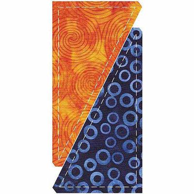 Accuquilt Go Go! Fabric Cutting Die - Half Rectangle Triangle -3 X6