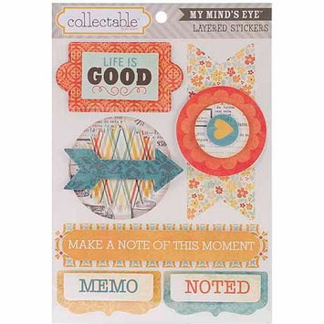 My Minds Eye Collectable Notable Layered Stickers, Memo