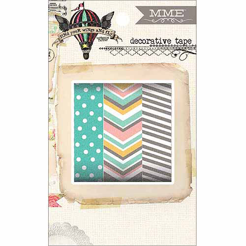 My Minds Eye Find Your Wings & Fly Decorative Tape 3 Rolls/Pkg-Up & Away