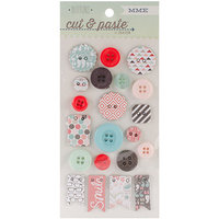 My Minds Eye Cut & Paste Flair Decorative Chipboard Buttons - Snapshots