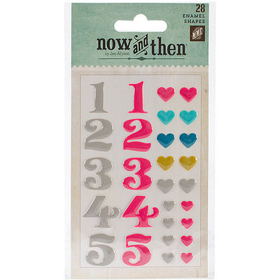 My Minds Eye NT1009 Now & Then Dorothy Adhesive Enamel Shapes 28-Pkg-Lovely Day