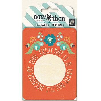 My Minds Eye NT1030 Now & Then Izzy Journaling Cards 3 in. X4 in. 24-Pkg-Good Times