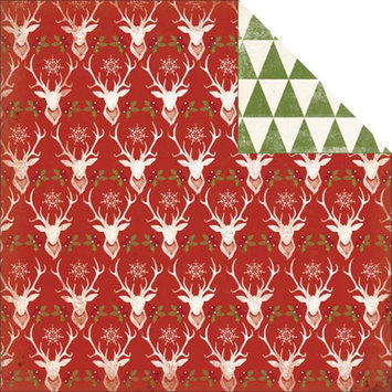 My Minds Eye Sleigh Bells Ring Double-Sided Cardstock 12