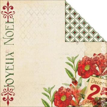 My Minds Eye Joyous Double-Sided Cardstock 12X12-Noel Glittered