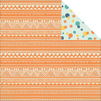My Minds Eye Jubilee Tangerine Double-Sided Cardstock 12