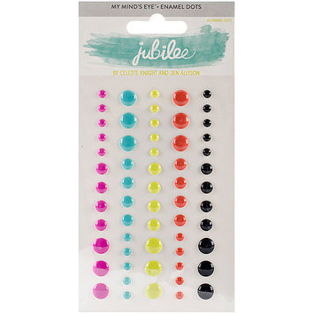 My Minds Eye Jubilee Wild Berry Adhesive Enamel Dots-Life