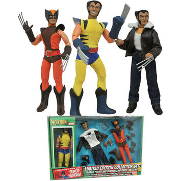 Diamond Select Wolverine Limited Edition 8-Inch Retro Action Figure Set