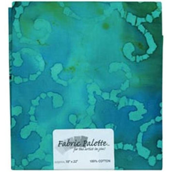 Fabric Editions 148004 Novelty & Quilt Fabric Pre-Cut 100% Cotton 21 in. Wide .25yd-Turquoise Batik