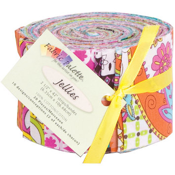 Fabric Editions MDGJLFB Fabric Palette Jellies 100 Percent Cotton 2.5 in. x 42 in. Cuts 20PkgFlutterby Pack of 3