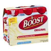 Boost Original Complete Nutritional Drink Very Vanilla - 6 PK