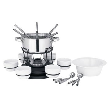 Trudeau 3-in-1 Lazy Susan 24-pc. Fondue Set