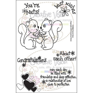Creative Vision Clear Stamps 4 X6 -You're Nuts