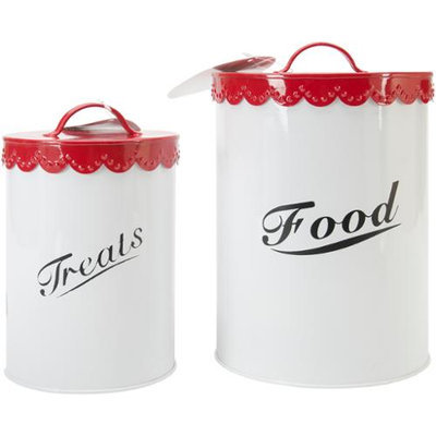 Buddy's Line Pet Food and Treat Canister Set - Red