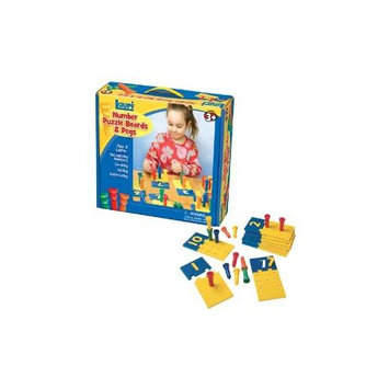 Patch Products Lauri Toys Number Puzzle Boards and Pegs