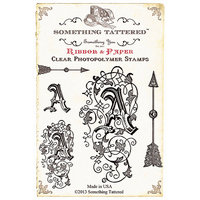 Something Tattered ST01 857 Something Tattered Monogram Initial Clear Stamps 4 in. X4 in. -V