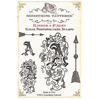 Something Tattered ST01 802 Something Tattered Monogram Initial Clear Stamps 4 in. X4 in. -Q
