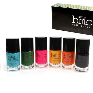 Bundle Monster BMC Nail Stamping Lacquers - Creative Art Polish Collection, 6 Colors: Set 2