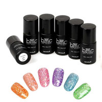 Bundle Monster BMC Hexagon Shaped Glitter Nail Lacquer Gel Polish Master Set - Woodland Fantasy
