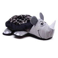Kyjen Innovative Kyjen Lil Rippers Plush Dog Toy Rhino