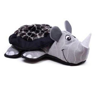 Kyjen Innovative Kyjen Lil Rippers Plush Dog Toy Rhino