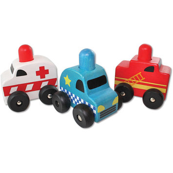 Discoveroo 3-pk. Squeaker Emergency Toy Cars