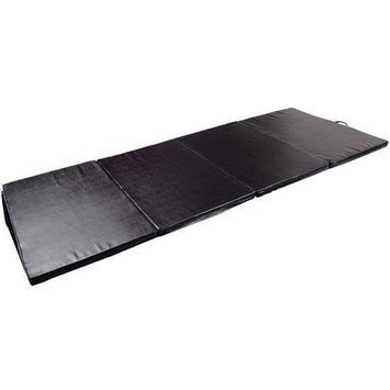 Soozier PU Leather Gymnastics Tumbling/Martial Arts Folding Mat Color: Black