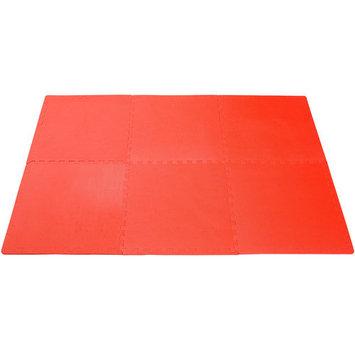 Soozier 24 sq ft Exercise Interlocking Protective Flooring - Six 24 x 24 x 3/8 Tiles