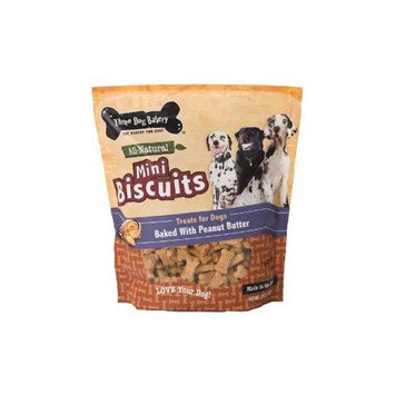 Three Dog Bakery Mini Biscuits Treats For Dogs 32 Ounce Peanut Butter 320123