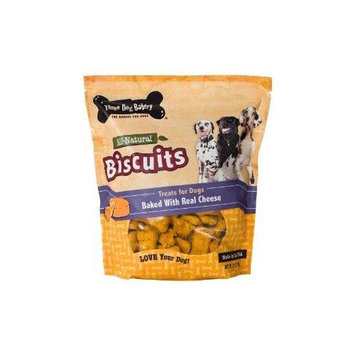 Three Dog Bakery Biscuit Dog Treat Cheese