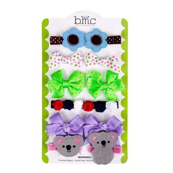 Bundle Monster Baby Girl 12 pc Soft Ribbon Design Hair Clip Accessories - Set 4